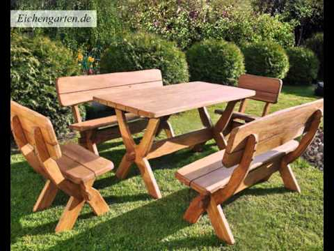 massivholz gartenm bel set youtube. Black Bedroom Furniture Sets. Home Design Ideas