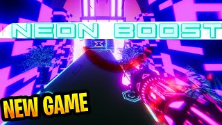 """New Free to play FPS Runner / Platformer  """"Neon Boost"""" : First World Full Gameplay"""