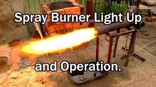 Oil Burner Lighting demo  and Setup for heater and furnace applications