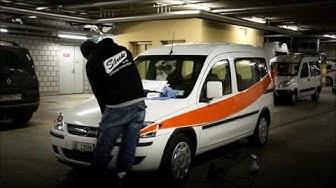 Umbeschriftung der Fahrzeuge von Energie Wasser Bern