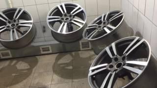 видео Алмазная проточка дисков колес