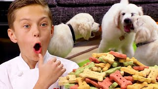 We Tried to Make Dog Treats For Our Puppies... AND PEOPLE!  | Universal Kids