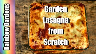 Winter Spinach Tomato Lasagna from Scratch - Straight from the Garden  | THE KITCHEN(The cost of this meal comes in at well under $.50 per serving of wonderful lasagna! Pasta made from scratch, herbs which are dried, frozen, and fresh, spinach in ..., 2017-02-03T01:05:21.000Z)