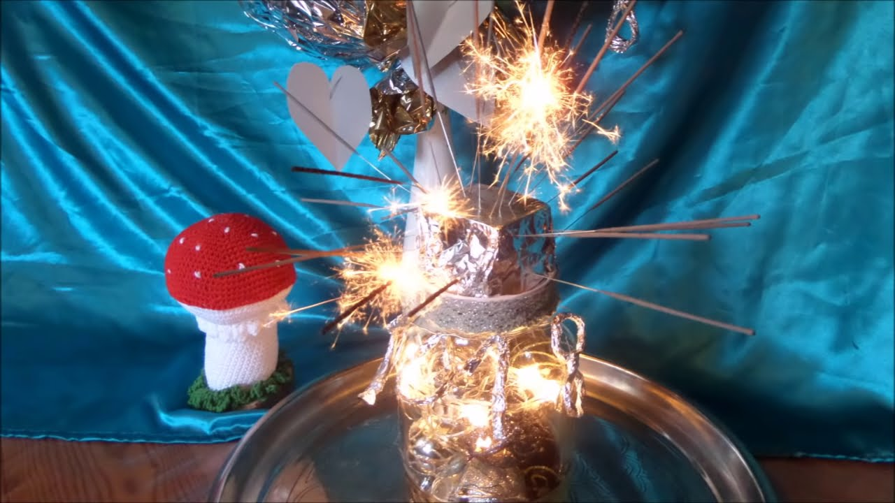 diy tischfeuerwerk mit led deko glas silvester deko selber basteln youtube. Black Bedroom Furniture Sets. Home Design Ideas