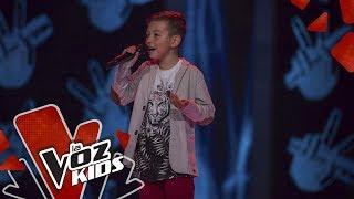 Julian canta No Me Doy Por Vencido - Audiciones a Ciegas La Voz Kids Colombia 2019