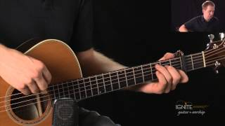 review playing capo d chord in c position learn advanced acoustic guitar lesson
