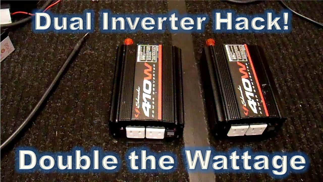 Ac Inverter Wiring Diagram Parallel Inverters Double The Power Hack Part2 Youtube