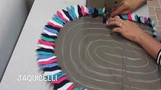 Como fazer um Tapete de Porta Oval em Retalho