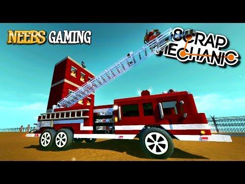 Scrap Mechanic Fire Truck Challenge