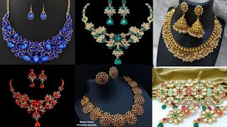 Party wear necklace sets.
