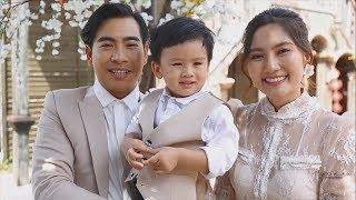 Ngọc Lan Thanh Bình nhắng nhít chụp ảnh Tết cùng con trai