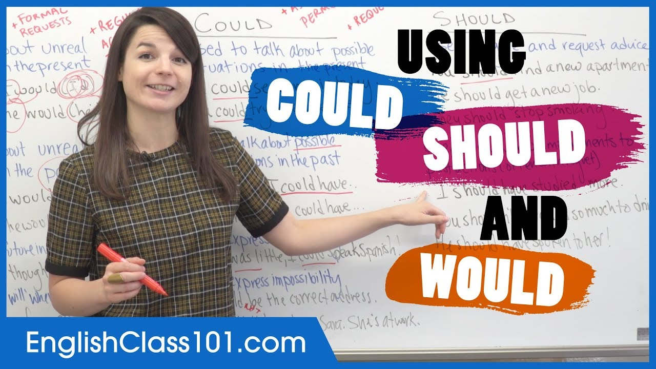 Download Correct Use of COULD, SHOULD and WOULD - Modal Verbs in English Grammar