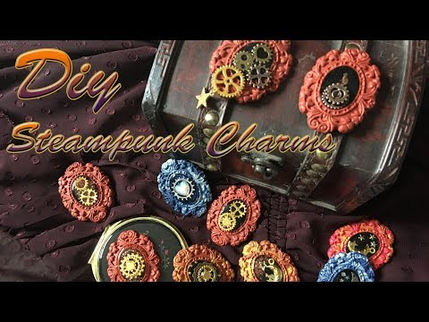 How to make UV Resin steampunk Charms DIY Tutorial