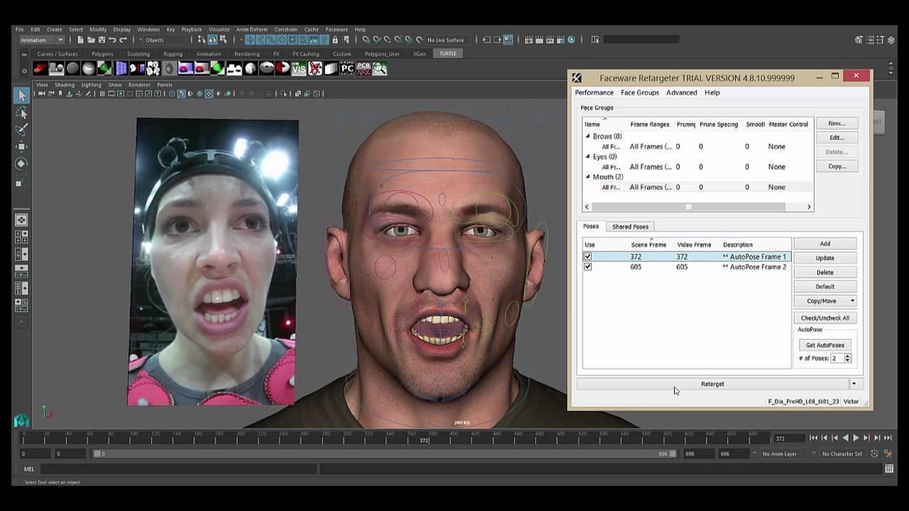 Faceware Retargeter 5.0: Retargeting with Shared Poses (Studio ...