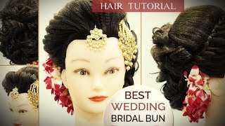 Best Wedding Bun Hair Style Tutorial | Step by Step Perfect Bridal Bun Hair Tutorial Video