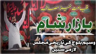 ''Bazaar E Sham'' Zakir Waseem Abbas Baloch 2019 |FAROGH E AZADARI|