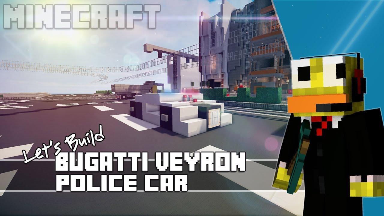 minecraft how to make bugatti veyron police car youtube. Black Bedroom Furniture Sets. Home Design Ideas