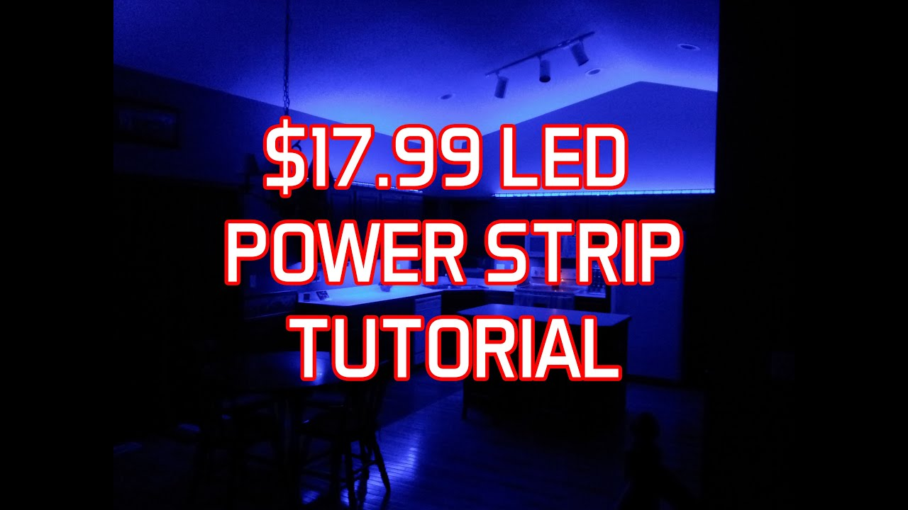 Led light strip install tutorial easy setup youtube mozeypictures Image collections