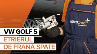 Montare Etrier frana VW GOLF V (1K1): video gratuit