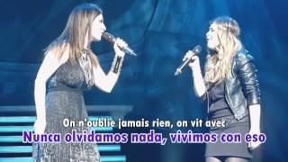On Oublie Jamais Rien On Vit Avec - Caroline Costa Ft Laura Pausini (Letra y Traducción)