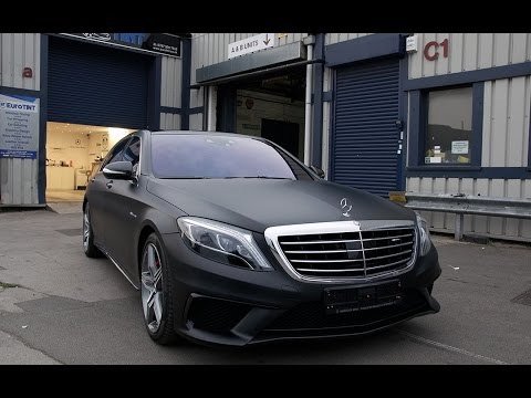 Merc S63 Amg Satin Black Wrap By Eurotint London Youtube