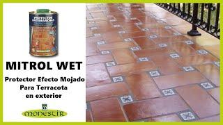 Mitrol Wet - Protector antimanchas con efecto mojado para suelos de terracota exteriores