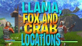 Visitez un Lama, Fox, et un défi de crabe - Battle Pass Weekly Challenges (Fortnite Battle Royale)