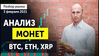 Разбор рынка криптовалют Прогноз XRP BTC ETH