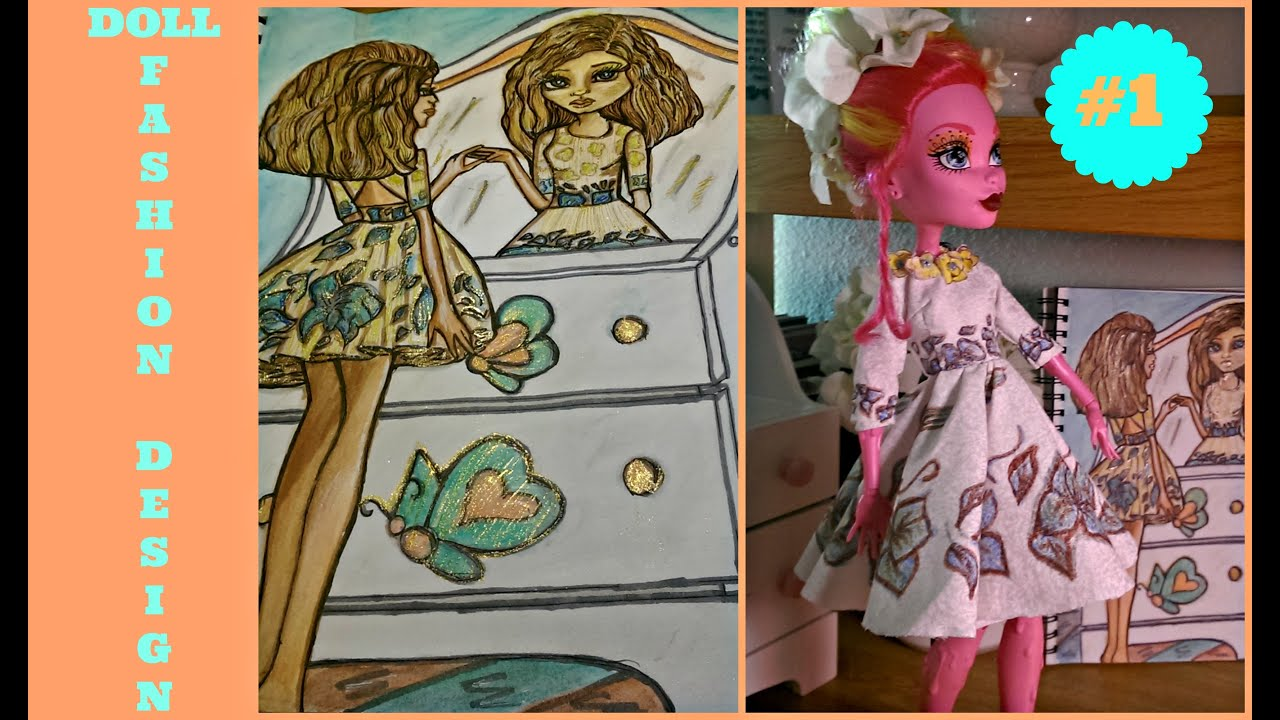 How To Draw Doll Dress Drawing Tutorial Monster High 17 Inches