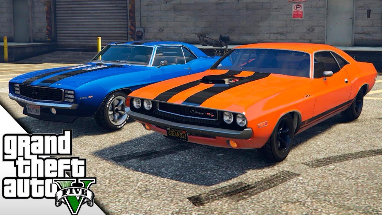 Gta V Mods Chevrolet Camaro Vs Dodge Challenger Fast