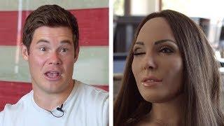 Whitney Cummings' robot Tries to Interview Adam Devine