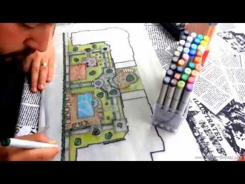 Peyzaj Projesi Skeç Çizimi - Time Lapse Landscape Project Fast Sketch Drawing