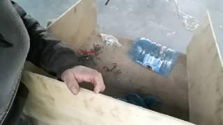 Бункерная кормушка для домашней птицы . ЧАСТЬ № 1
