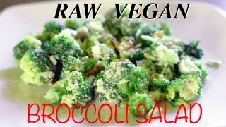 Raw Vegan Broccoli Salad with Raisins & Goji Berries - Insalata vegan di broccoli crudi Thumbnail