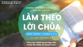 HTTL PHONG ĐIỀN - Chương Trình Thờ Phượng Chúa - 12/09/2021