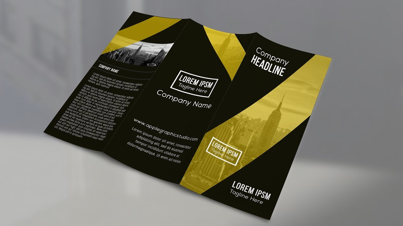 how to make a trifold brochure in photoshop cc