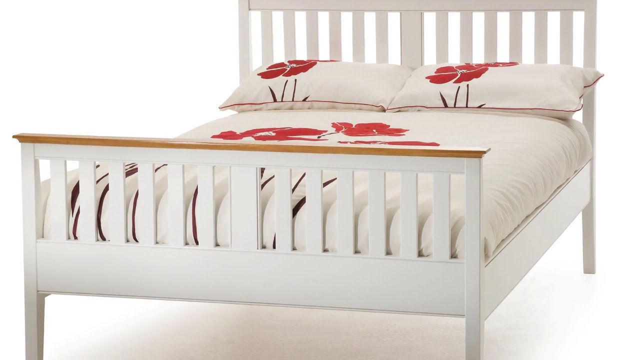 White Wood King Size Bed Frame Furniture India Youtube