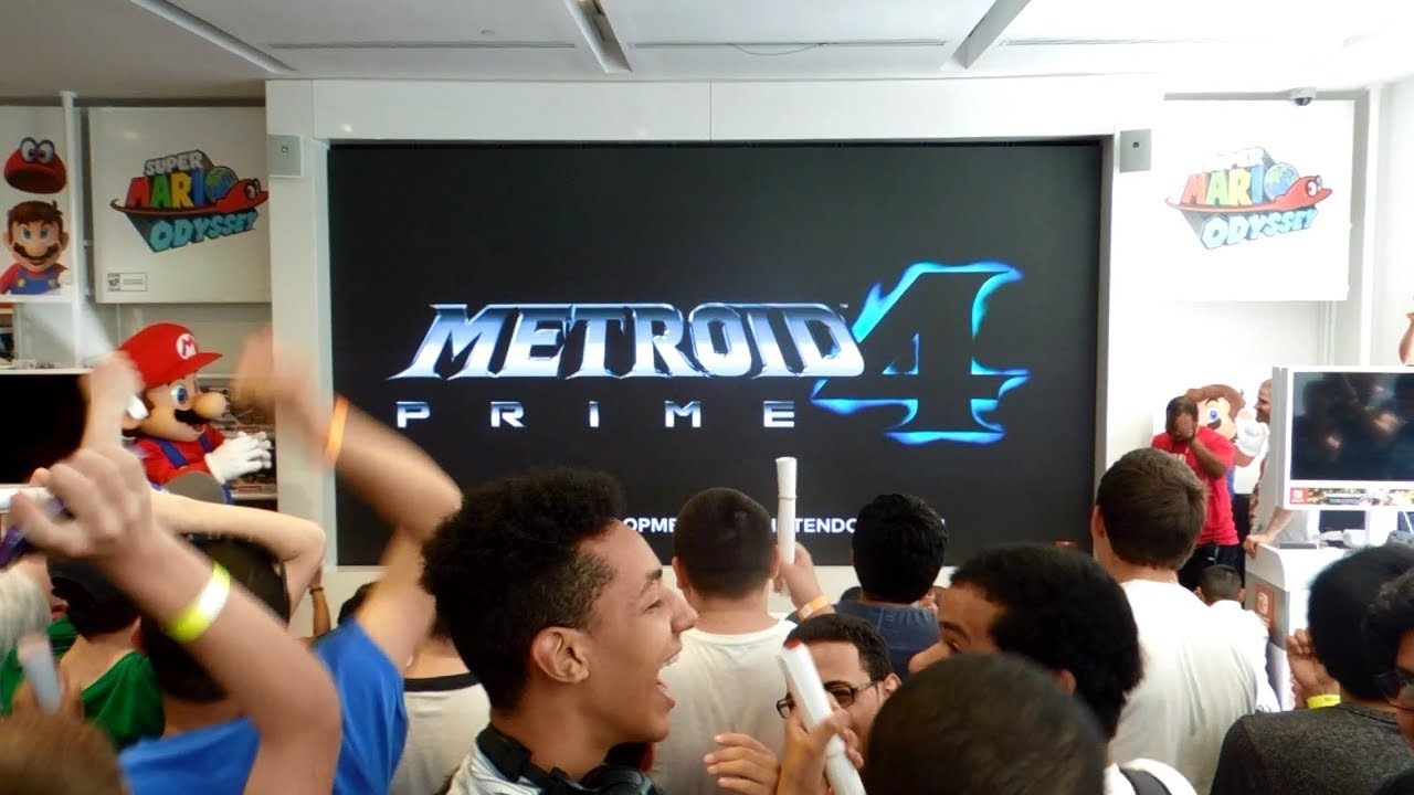 Metroid Prime 4 Reveal Live Reactions at Nintendo NY [E3 2017]