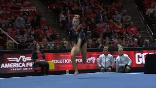 Utah gymnastics' MaKenna Merrell-Giles' perfect 10 on floor earns the Opus Bank #12Best moment of...
