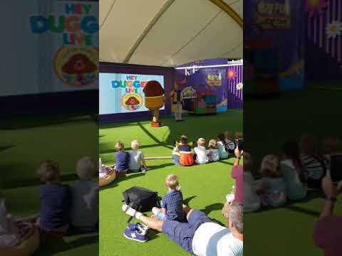 Meeting duggee at CBeebies land alton towers UK 31st August 2018