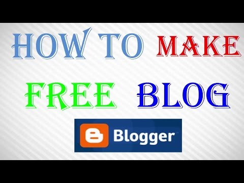 How to make blogger in tamil - make a free blog
