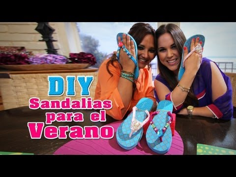 DIY: Cómo decorar sandalias para el Verano / How to decorate Summer Flip Flops - Fun DIY's con Karla Videos De Viajes
