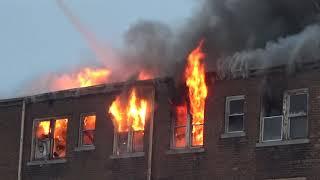 Detroit Fire Department - 2nd Alarm Occupied Apartment Fire (Oakman & Linwood)