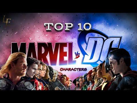Top 10   Marvel Vs DC Characters   DC Vs Marvel   List Edu