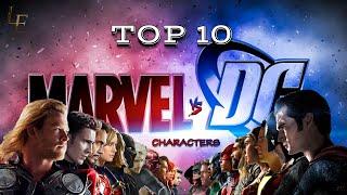Top 10 | Marvel vs DC Characters | DC vs Marvel | List Edu