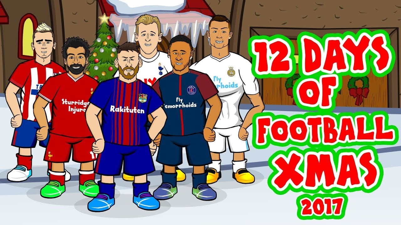 �����12 days of football christmas 2017�����parody feat messi
