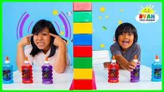 Twin Telepathy Slime Challenge Ryan Vs. Mommy