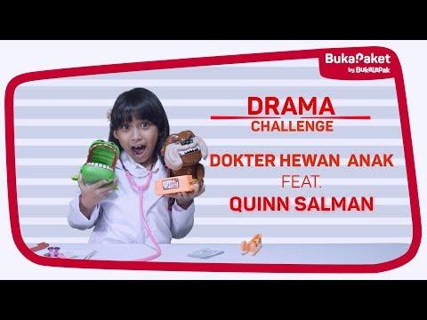 Drama Challenge: Mainan Dokter-dokteran Hewan bareng Quinn Salman | BukaPaket for Kids