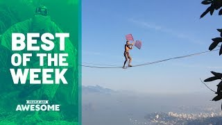 Slackline Tricks, Extreme Cup Juggling & More | Best of the Week