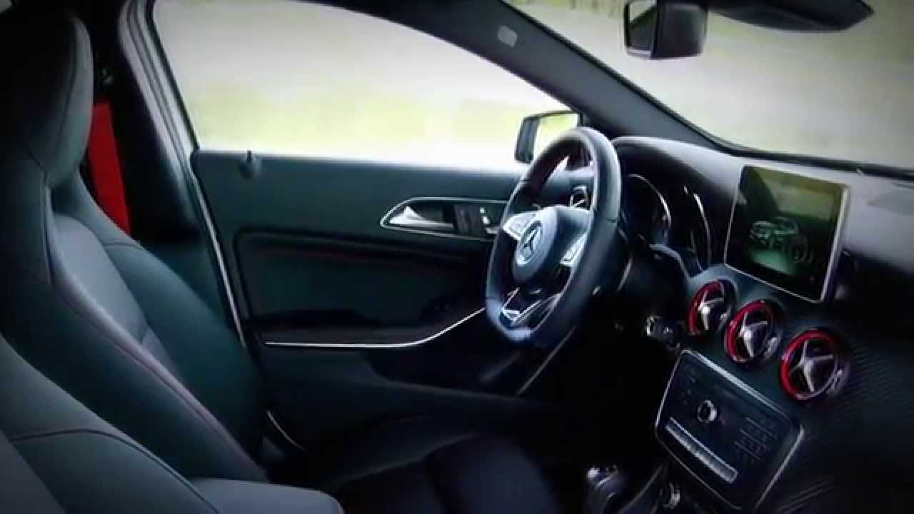 mercedes benz a class 2016 a 250 sport interior youtube. Black Bedroom Furniture Sets. Home Design Ideas